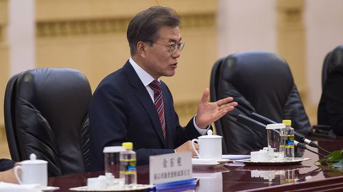 South Korean president Moon Jae-in. Photo: Getty Images