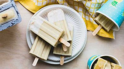 "Recipe:&nbsp;<a href=""https://kitchen.nine.com.au/2016/12/09/15/12/pina-colada-popsicles"" target=""_top"">Piña colada popsicles</a>"