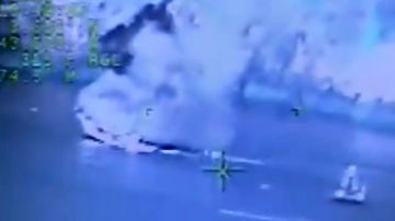 The US Coast Guard released this footage of the Santa Cruz boat fire that killed 34.