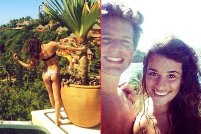 ...and boy is she having a good time!<br/><br/>The <i>Glee</i> star is totally making us jealous with these Insta-pics from her holiday in Mexico over the past few days with long-time BFF and former co-star Jonathan Groff (aka Jesse St James from <i>Glee</i> and Zachary Quinto's ex-boyfriend).<br/><br/>Images: Lea Michele/Instagram