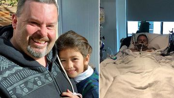 Jason 'Buddy' Miller with his daughter before contracting two deadly infections following a holiday in the Philippines.