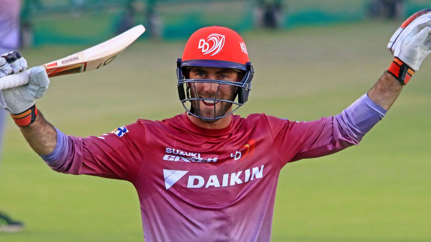 Delhi Daredevils team player Glenn Maxwell during a practice session