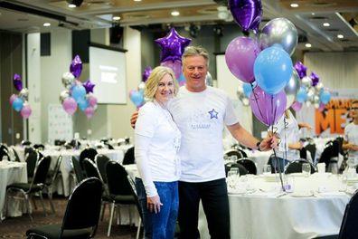 Lynette and Steve the Steve Waugh Foundation