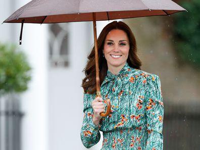 Kate Middleton in the rain 2017