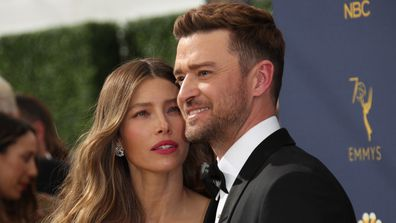 Justin Timberlake, Jessica Biel, Emmy Awards, red carpet