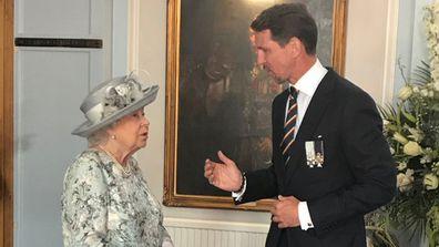 Crown Prince Pavlos of Greece and Queen Elizabeth
