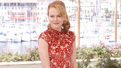 Nicole Kidman promotes 'Moulin Rouge' during a photo call at the Cannes Film festival in 2001 wearing Prada. She and husband Tom Cruise split in February of that year.