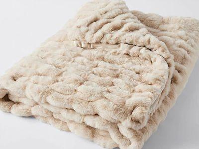 Arabella Faux Fur Throw (Natural) — Target