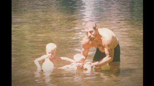 A young Stephen Richardson with sons Ben and Aaron.