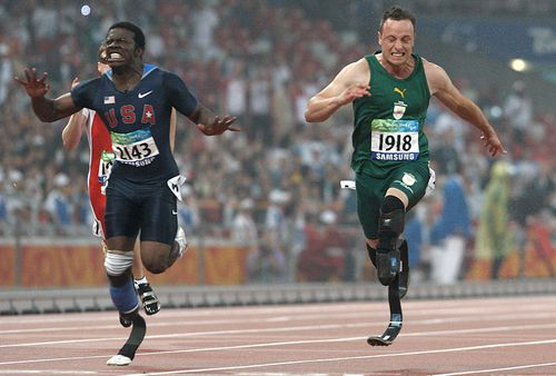 Pistorius won the 100m gold medal at the Beijing Paralympic Games.