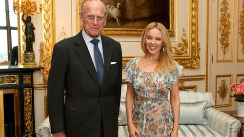 "Kylie Minogue said the Prince Philip is ""charm personified"". (AAP)"