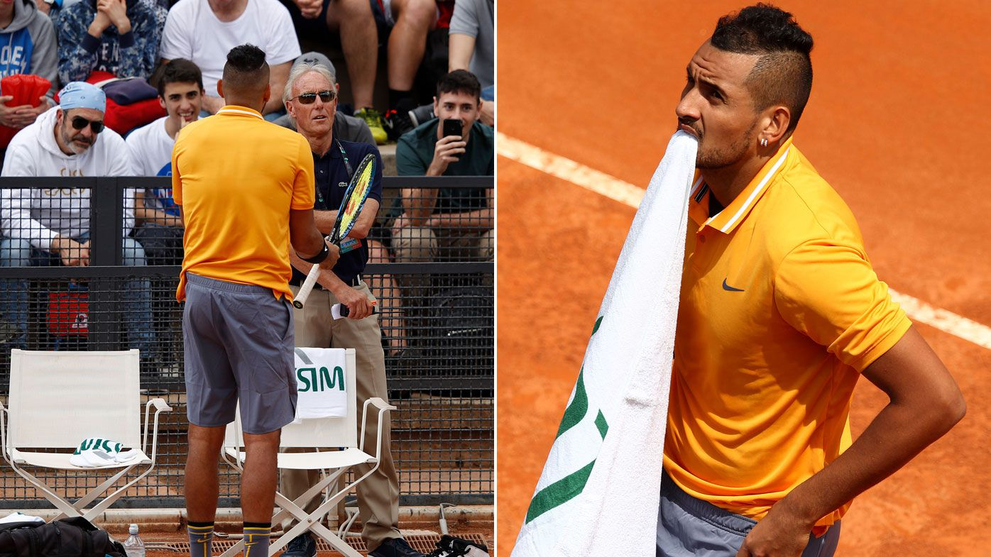 'He's an embarrassment to the sport': Calls for Kyrgios to retire from tennis after Italian Open meltdown