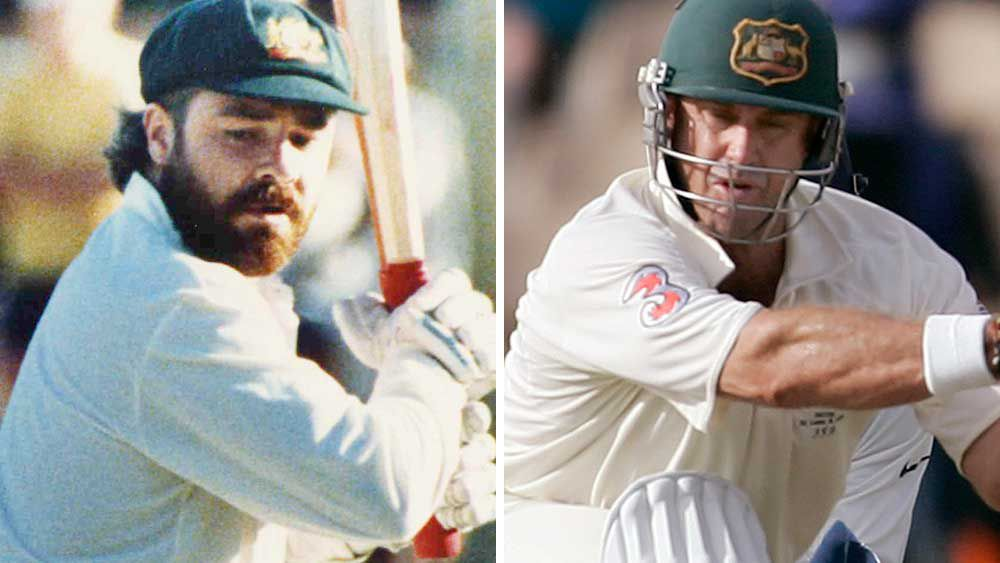 David Boon and Matthew Hayden. (AAP)