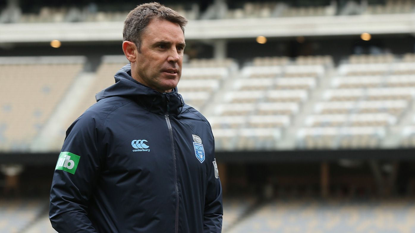 Brad Fittler, coach of New South Wales looks on during a New South Wales Blues State of Origin captain's run at Optus Stadium