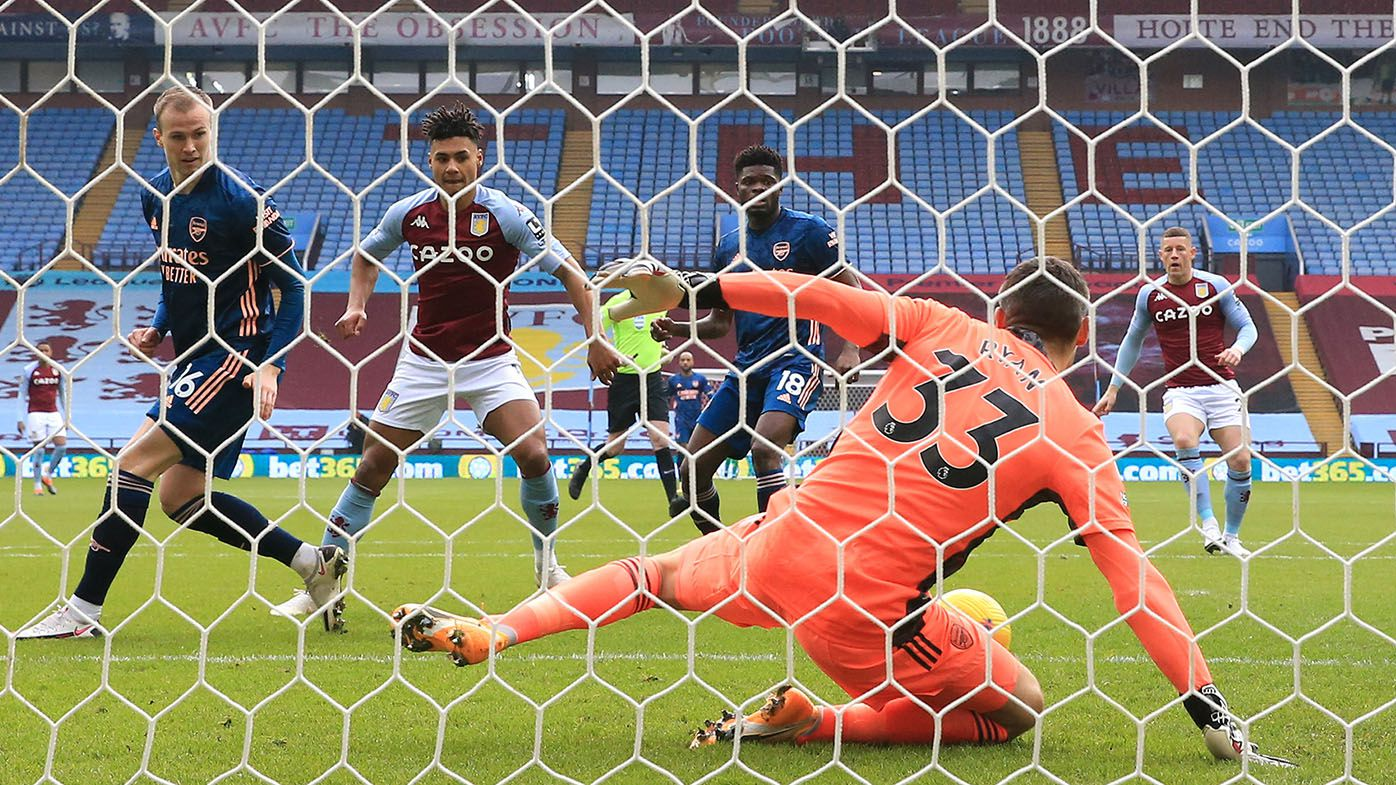 Maty Ryan strong on Arsenal debut but cops 74-second goal in 1-0 loss to Aston Villa