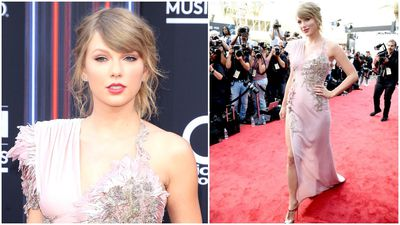Taylor Swift returns to the red carpet at Billboard Music Awards 2018
