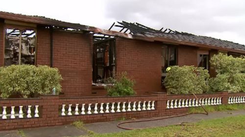 The home owner avoided any serious injuries. (9NEWS)