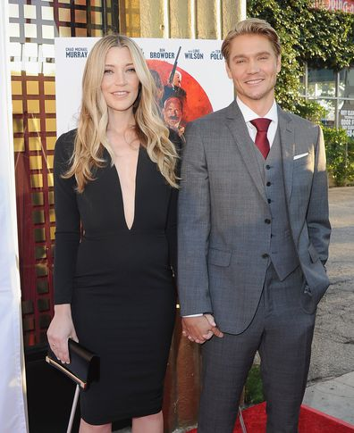 Sarah Roemer and Chad Michael Murray arrive at the Los Angeles Premiere Outlaws And Angels at Ahrya Fine Arts Movie Theater on July 12, 2016 in Beverly Hills, California.
