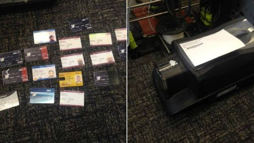False licenses and a card printer were seized. Picture: Supplied