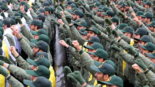 Members of Iran's Revolutionary Guards.
