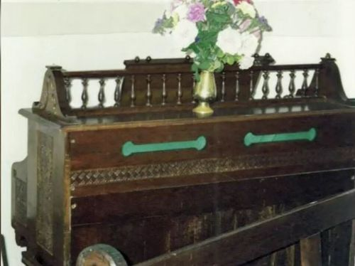 In the latest theft, a large wooden organ and four church pews were stolen from the location. Picture: Supplied.