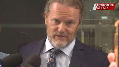 Craig McLachlan addresses media outside court
