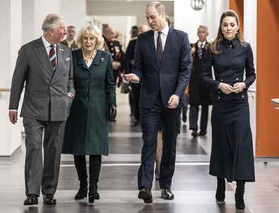 The Prince of Wales, the Duchess of Cornwall, the Duke of Cambridge and Duchess of Cambridge during a visit to the Defence Medical Rehabilitation Centre Stanford Hall, Stanford on Soar, Loughborough