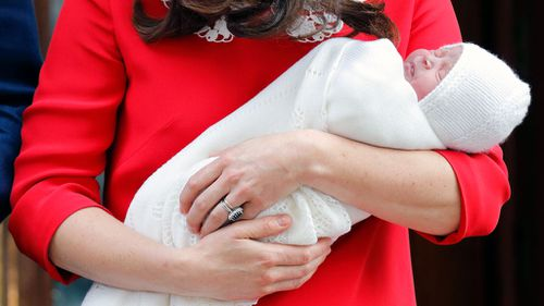 The new prince was born on Monday. (PA/AAP)