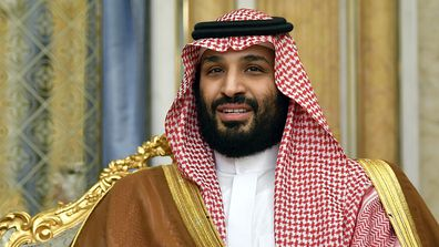 Saudi Arabia's Crown Prince Mohammed bin Salman attends a meeting with the US secretary of state in Jeddah.