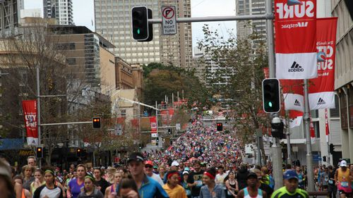 A man has suffered a heart attack while running Sydney's City2Surf race. (AAP)