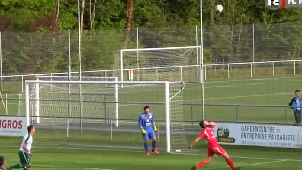 Defender scores bicycle kick own goal
