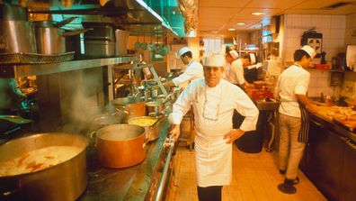 Albert Roux, pictured in the kitchen of Le Gavroche in 1989, was the chef who revolutionized London's restaurant scene.