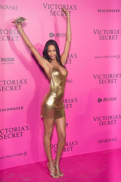 Lais Ribeiro attends the 2016 Victoria's Secret Fashion Show after party at Le Grand Palais, Paris.