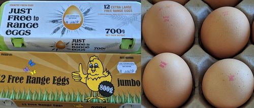 """The product contains the egg stamp """"NSW 219"""""""