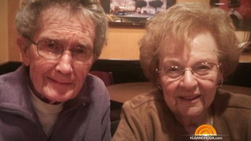 Elderly couple fall in love after 50 years apart