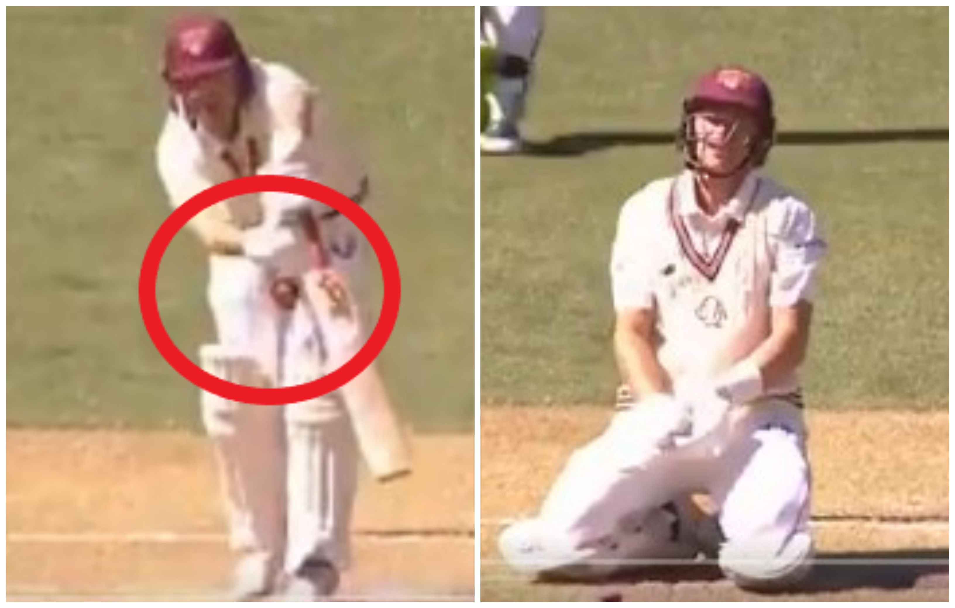 Marnus Labuschagne floored by painful blow in Sheffield Shield game