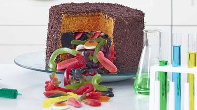 "Recipe: <a href=""http://kitchen.nine.com.au/2016/11/04/07/35/anna-polyvious-trickle-treat-white-choc-mud-cake"" target=""_top"">Anna Polyviou's trickle treat white choc mud cake</a>"