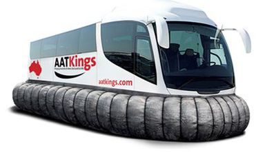 AAT Kings was trending on Twitter when they revealed a 'HoverCoach' for land/sea trips to Manly, in their April fools announcement.