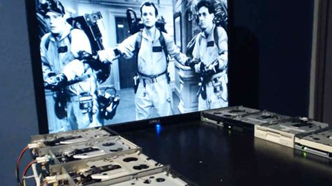 Watch: Ghostbusters theme by floppy disk drives