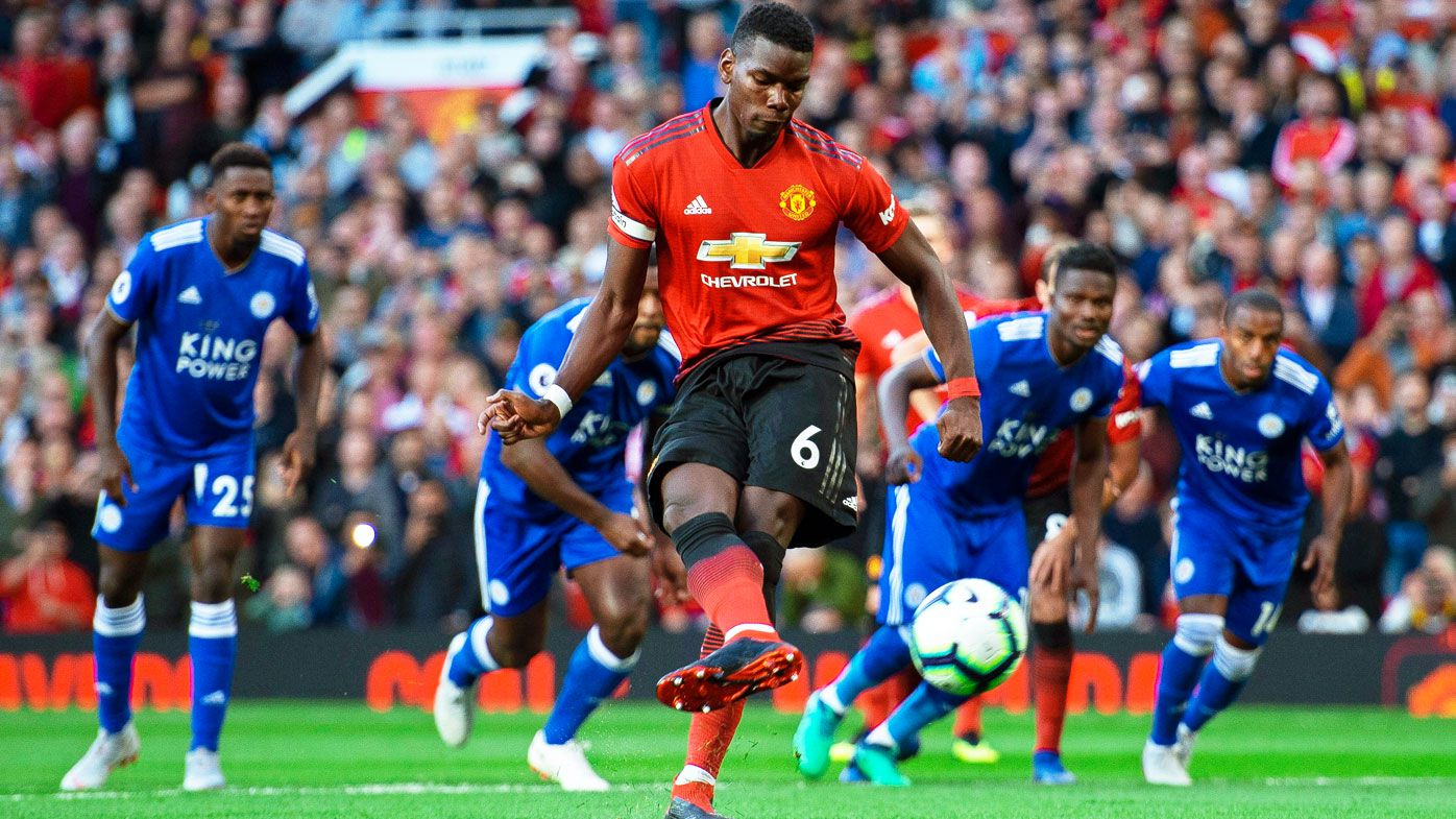 Paul Pogba gives Manchester United win over Leicester City