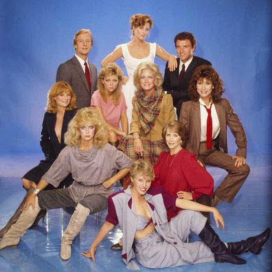 Knots Landing cast portrait.