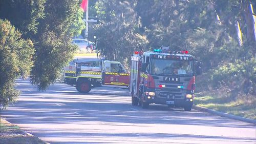 Fire crews in Kings Park. (9NEWS)