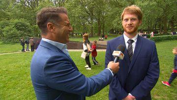 Karl Stefanovic talks to Prince Harry look-alike
