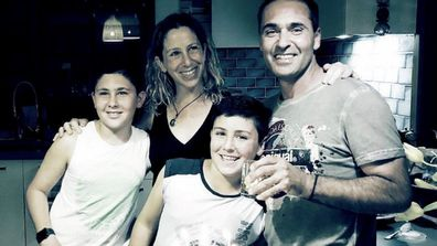Yoav and family birthday celebration before Elaine's death