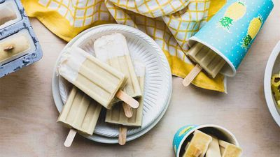 "<a href=""http://kitchen.nine.com.au/2016/12/09/15/12/pina-colada-popsicles"" target=""_top"">Piña colada popsicles</a><br /> <br /> <a href=""http://kitchen.nine.com.au/2016/06/07/00/51/satisfy-your-sweet-tooth-cooking-with-pineapple"" target=""_top"">More sweet and savoury pineapple recipes</a><br /> <br />"