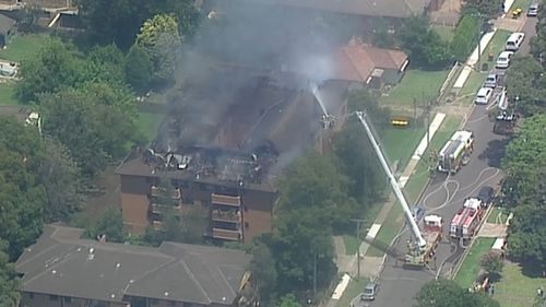 Fire crews worked to contain the blaze which broke out shortly after 11:30am this morning.