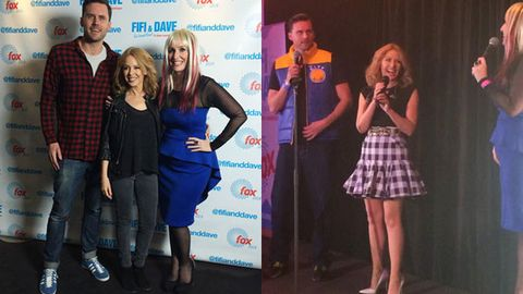 Watch: Kylie Minogue sings 'Happy Birthday' to Fifi Box at '90s-themed party