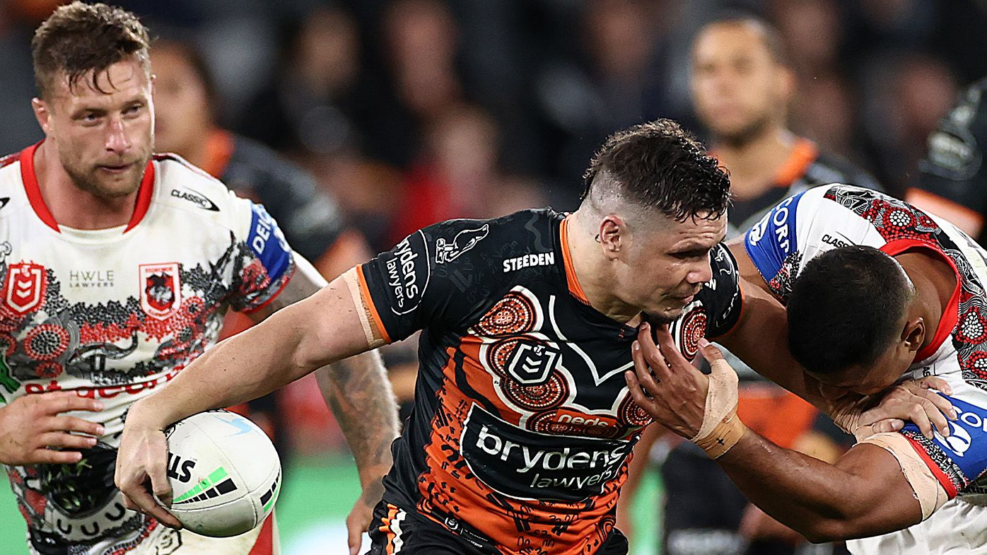 Daine Laurie, James Roberts spark Wests Tigers' comprehensive Indigenous Round victory