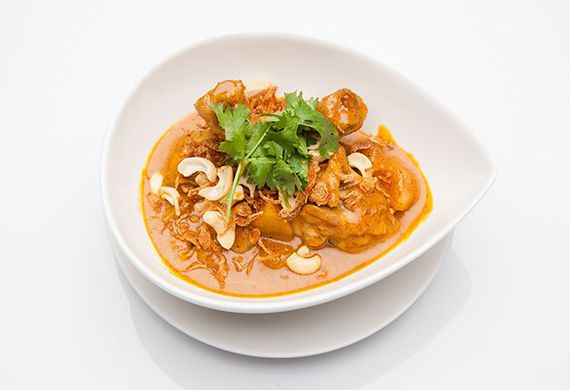 Make massaman chicken curry in a rice cooker