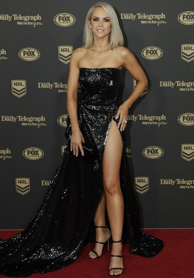 Carly Widdop at the 2019 Dally M Medal